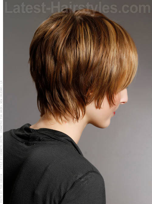 Short Haircut for Women with Fringe Back