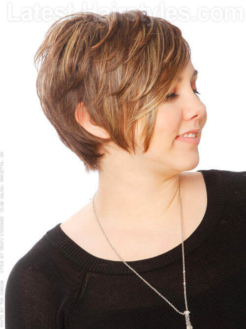 Short Haircut with Soft Waves Side