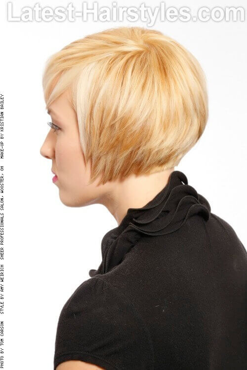 Short Textured Bob Haircut Side