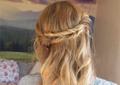 Master This Textured Twisted Half Updo in 3 Easy Steps