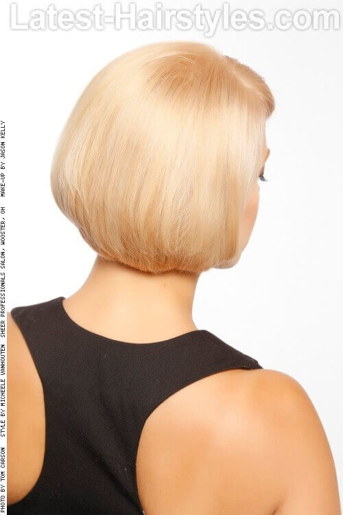 Traditional Rounded Bob Haircut Back