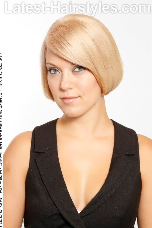 Traditional Rounded Bob Haircut