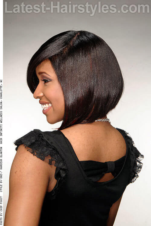 Two Toned Asymmetrical Bob Hairstyle 2