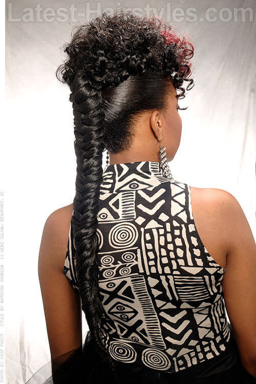 Ultra Long Ponytail Extension with Heringbone Braid Back