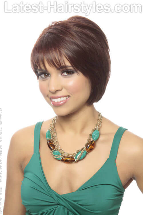 Layered Bob Hairstyle with Fringe