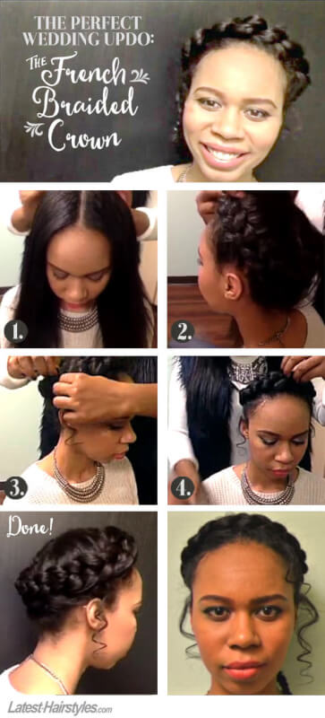 Perfect Wedding Updo - French Braided Crown