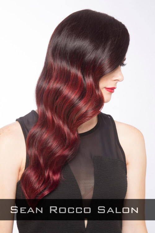 Red Ombre Haircolor Side
