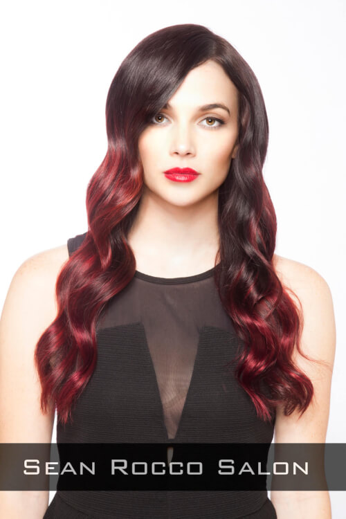 Red Ombre Haircolor