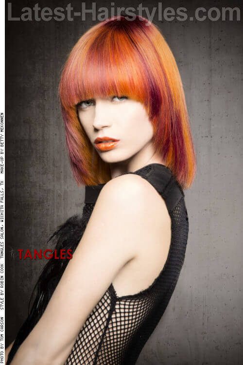 Straight Medium Haircut with Fringe