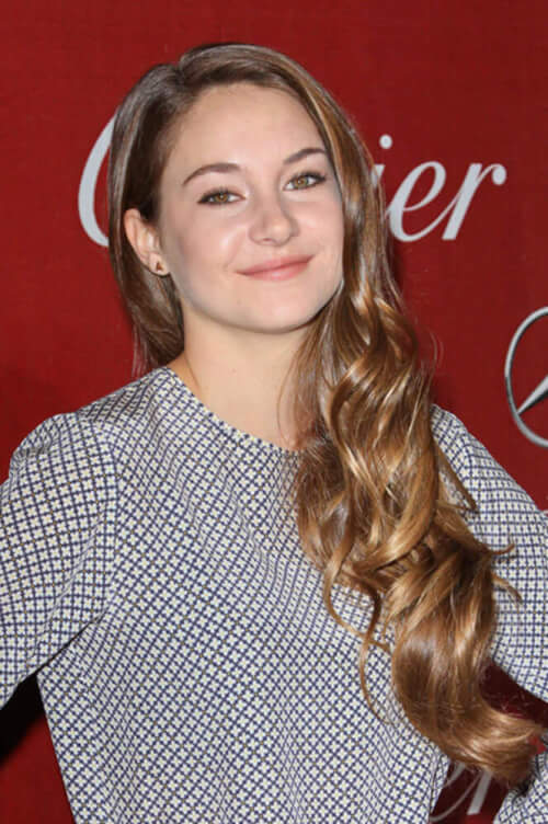 Shailene Woodley Long Curled Hair
