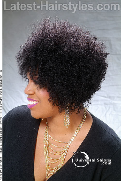 Afro Spiral Curls-Hairstyles for Brides 2