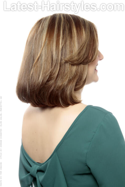Beveled Long Bob Haircut for Thick Hair Back