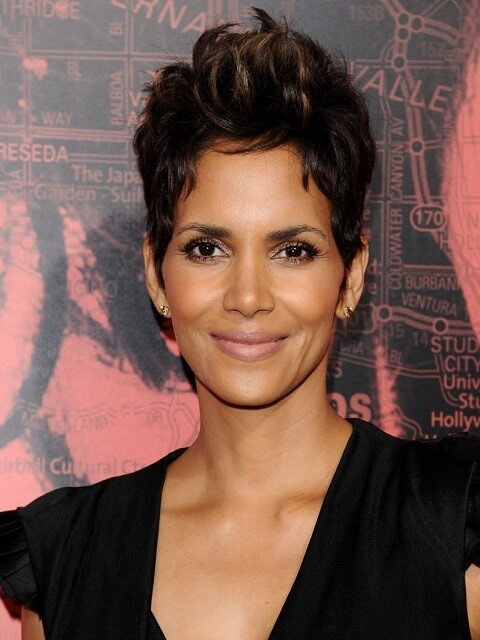 Halle Berrys Current Hairstyle   20 best halle berry pixie