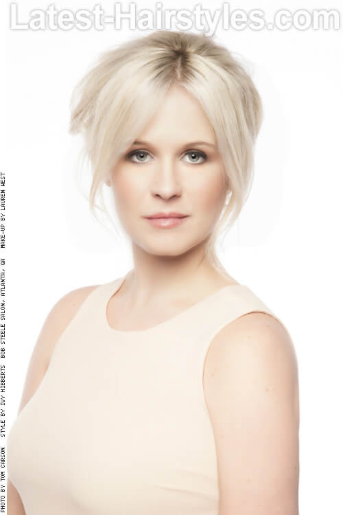 Swell The 25 Most Beautiful Updos For Medium Length Hair Short Hairstyles Gunalazisus