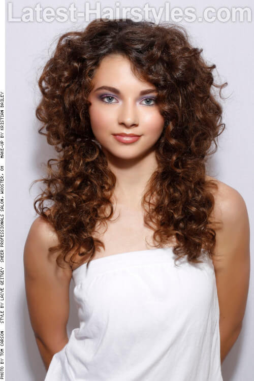 Naturally Curly Boho Hairstyle