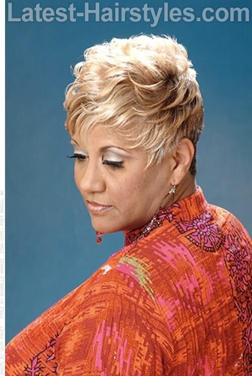 Platinum & Light Golden Blonde Pixie 1