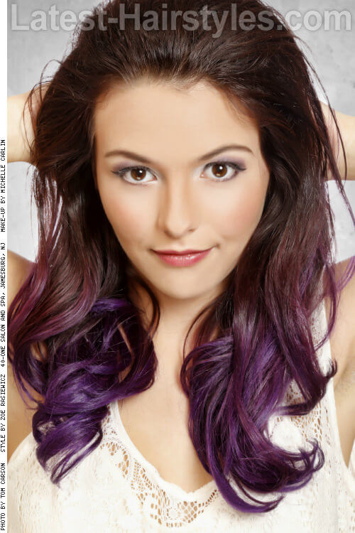 Purple Ombre Haircut