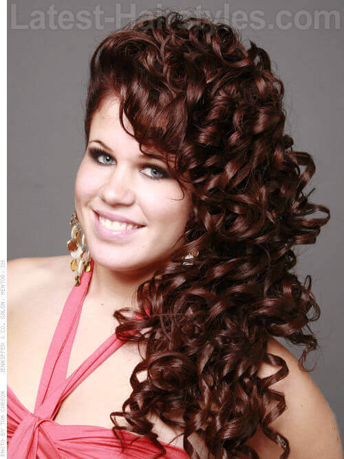 Easy Long Hairstyle with Curls