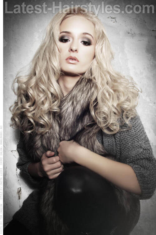Long Hairstyle with Glamorous Curls