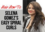 Get The Look: Selena Gomez's Easy Spiral Curls