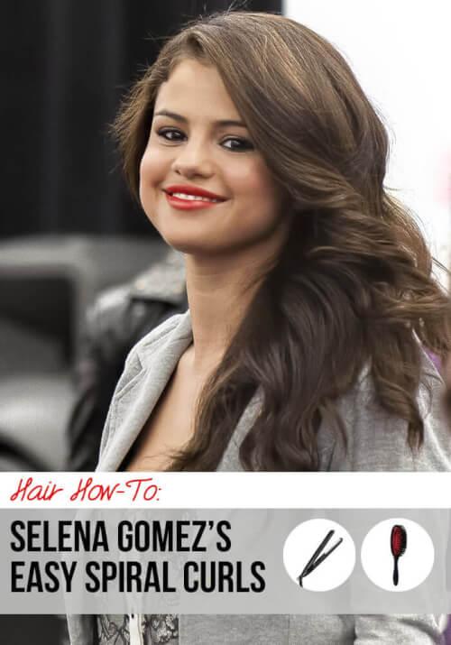 Get The Look: Selena Gomez's Easy Spiral Curls