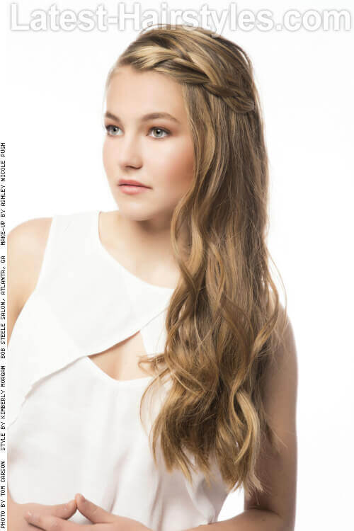 Soft Romantic Long Hairstyle Side