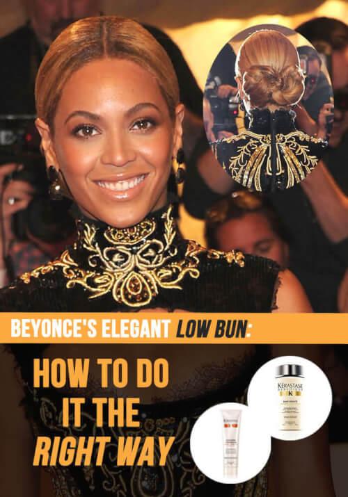Beyonce's Elegant Low Bun