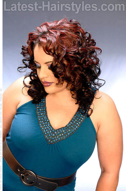 Cascading Side Parted Spiral Curl 2