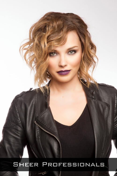Edgy Curly Bob Hairstyle