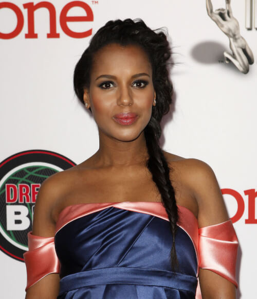 The Coolest Summer Braids - Kerry Washington Fishtail Braid