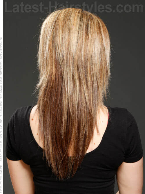 Long Choppy Hairstyle with Volume Back