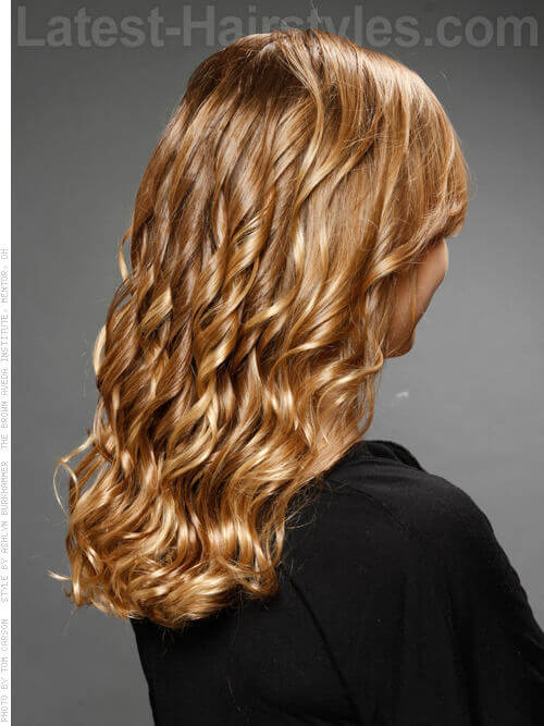 Long Hairstyle with Spiral Curls Back