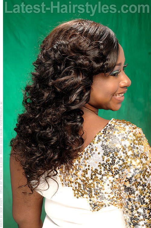 One Sided Swept Curls 2