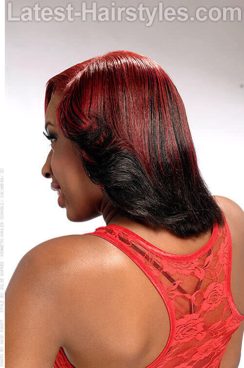 Red & Black Flip Curls 2