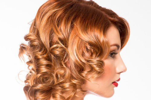Retro Curly Bob Hairstyle Side