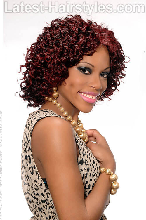 Afro Shaped Spiral Curls Red Hairstyles