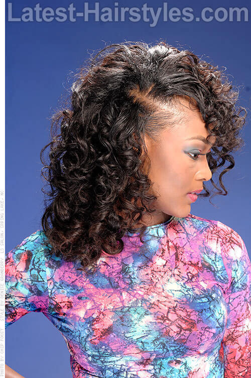 Admirable Curly Weave Hairstyles With Side Part Hairstyle Pictures Short Hairstyles For Black Women Fulllsitofus