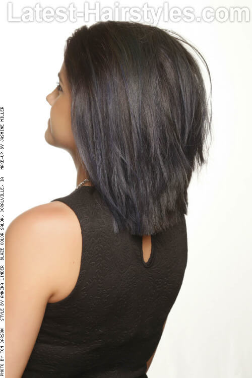 Longer Bob with Edgy Layers for Medium Hair Back