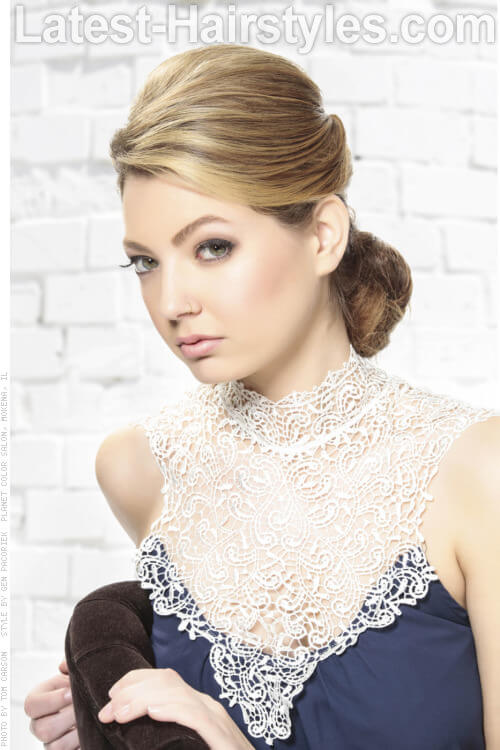 Romantic Pinned Back Evening Hairstyle