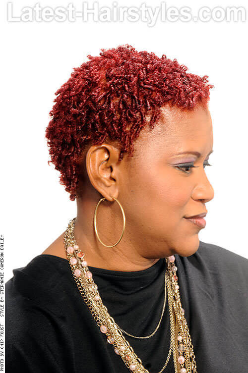 Short, Slim & Sweet Tight Drop Curls 2 Red Hairstyles