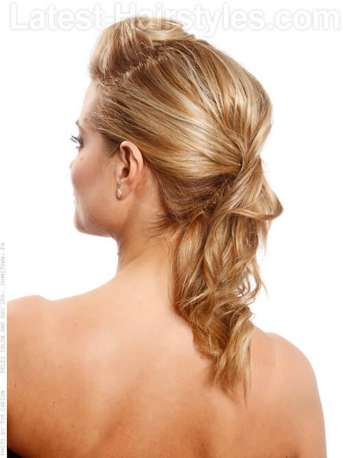 Sleek Pinned Back Formal Hairstyle Back