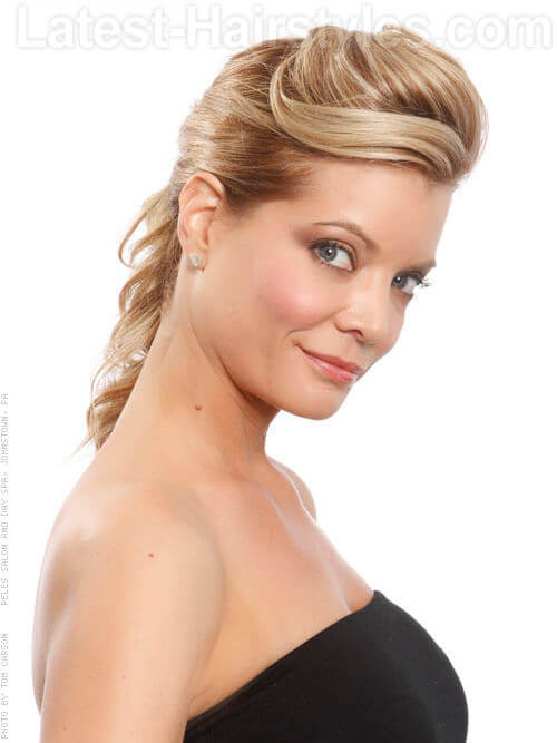 Sleek Pinned Back Formal Hairstyle