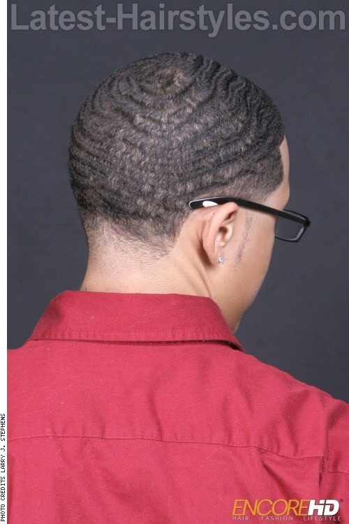Super Defined Wave Cut 2 Black Men Haircuts