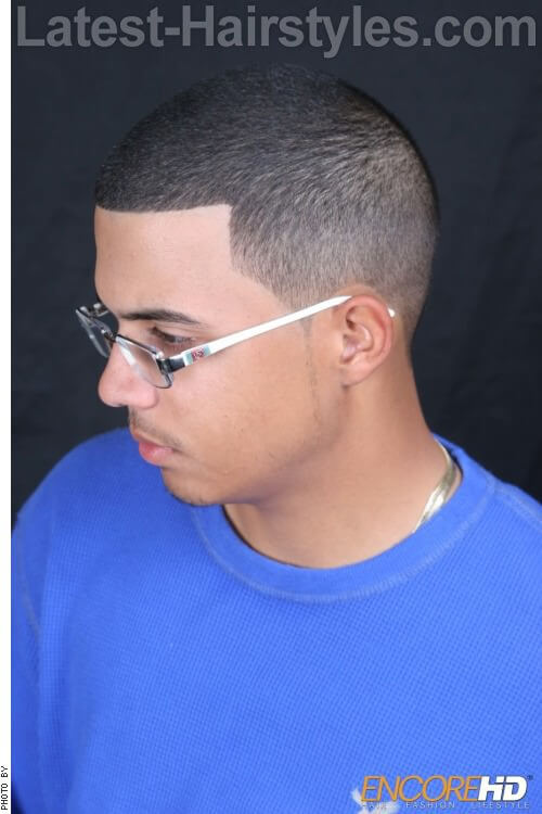 Super Low Cut Black Men Haircut 2