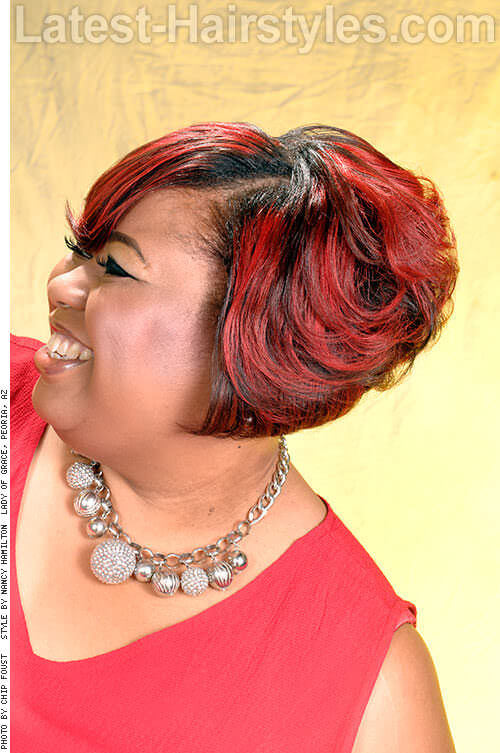 The Oversized Fringe Bob 2 Red Hairstyles