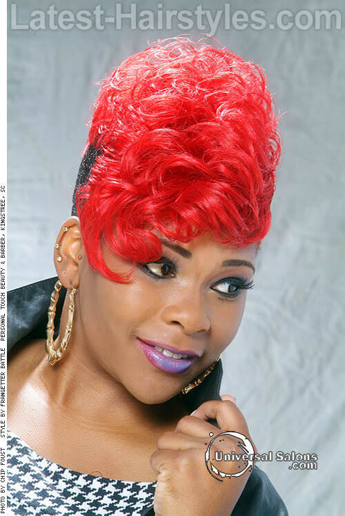 The Red & Black Mohawk 1 Red Hairstyles