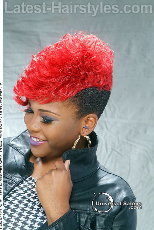 The Red & Black Mohawk 2 Red Hairstyles