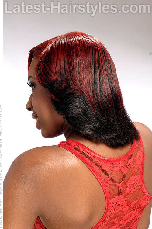 Twofold Color Curls 2 Red Hairstyles