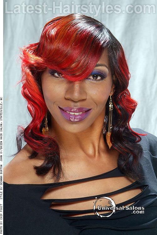 Firecracker Ombre Shoulder Length Hair Styles 1