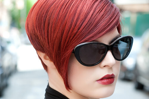 Hairstyle of the Month: A Red Hot Asymmetric Bob